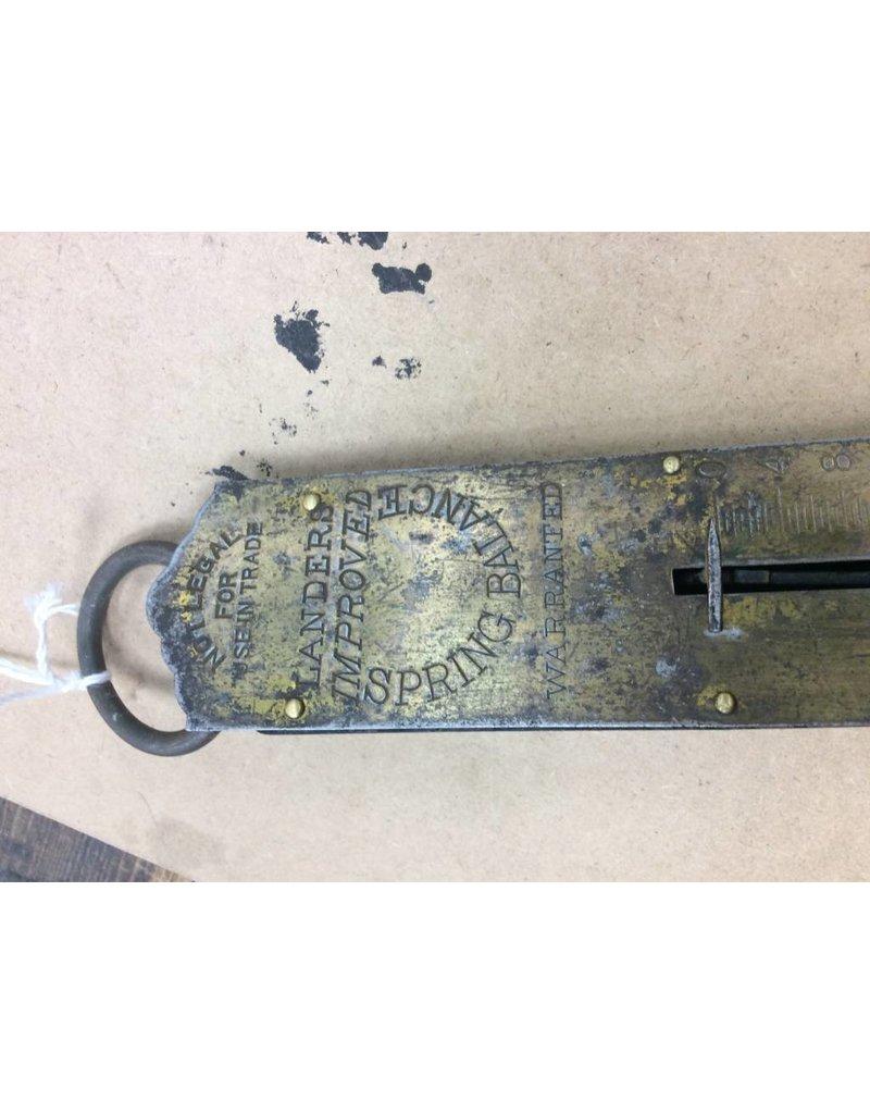 Vintage Brass Spring Balance Scale