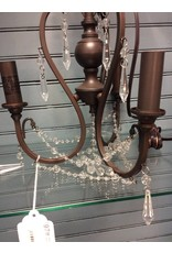 Astoria Grand Bayles 3-Light Bronze and Crystal Chandelier