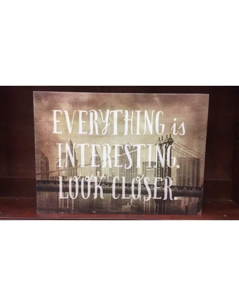 """Look Closer"" cityscape wall decor"