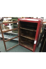 Rustic Wood Red Cabinet