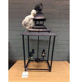 Benzara Cliffland Lantern Styled 4-Light Mini Chandelier