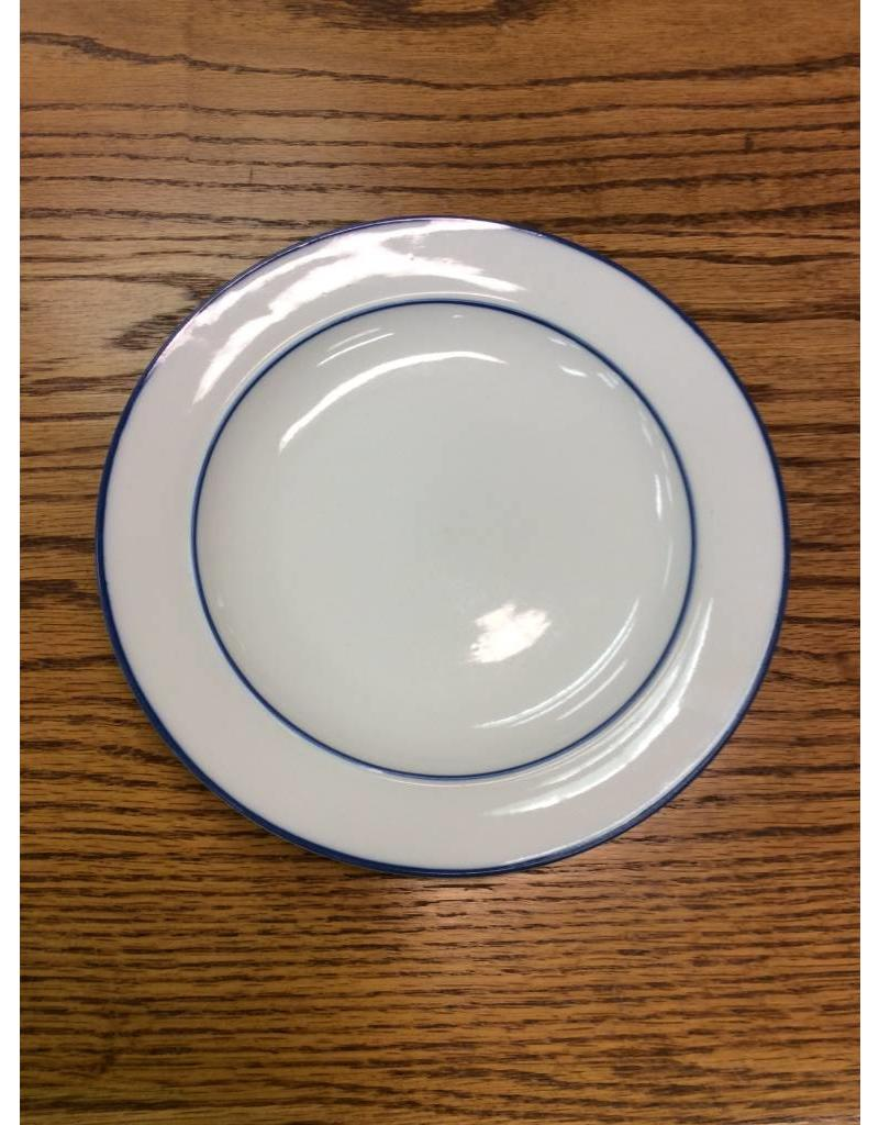 White Plate w/ Blue Trim SM