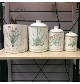Set of 4 Vintage Canisters