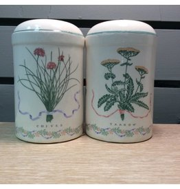 Herb Salt and Pepper Shakers (pair)
