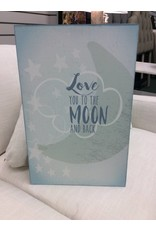 Love you to the moon, wall decor