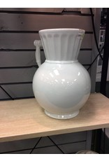 White Ironstone Vase W/ Handle