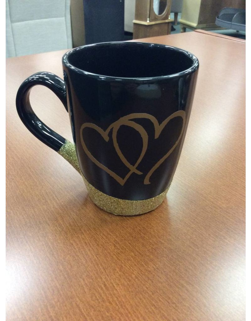 Black Glitter Mug