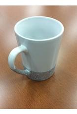 White Glitter Mug