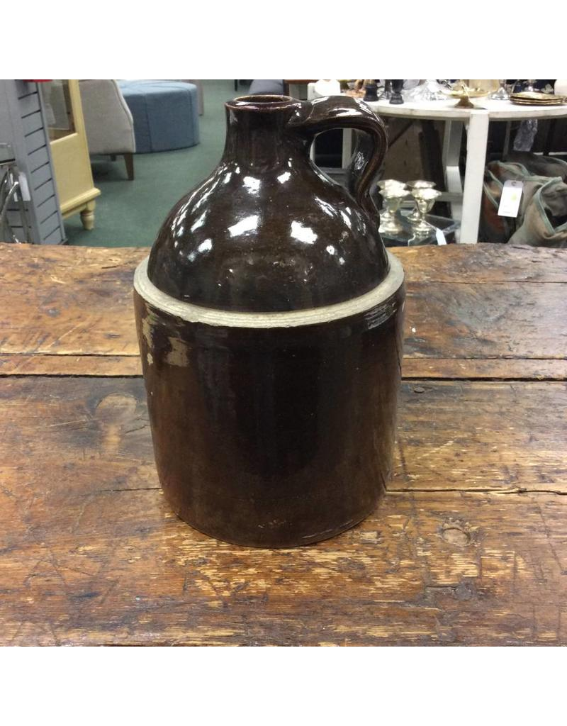 Vintage Brown Saltware Jug