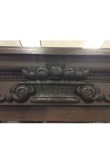 Antique Dark Oak China Cabinet