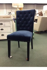 Willa Arlo Interiors Marcelo Ink Navy Dining Chair