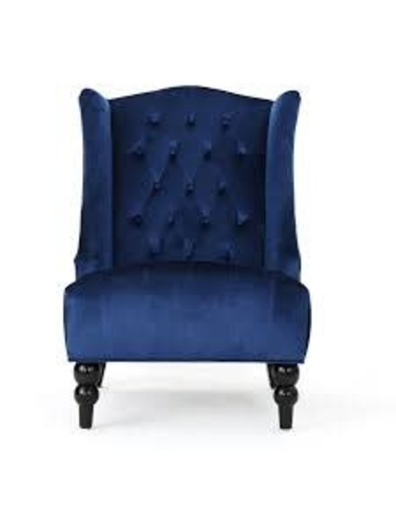 Alcott Hill Potterslane High-Back New Velvet Wingback Chair