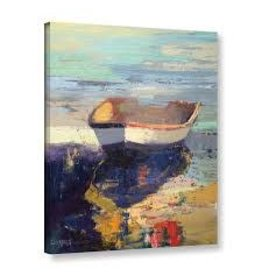 Beachcrest Home 'Blueglow' Painting Print on Wrapped Canvas