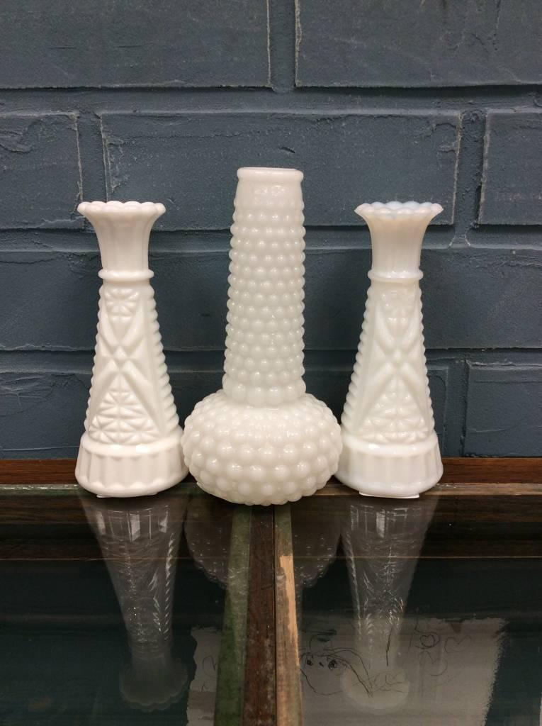 Milk Glass Bud Vase Heirloom Home
