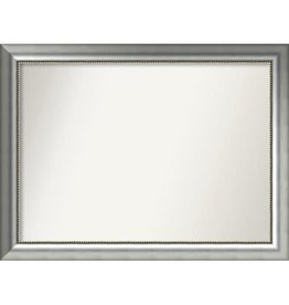 Willa Arlo Interiors Burnished Silver Wood Wall Mirror