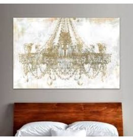 Oliver Gal Gold Diamonds Faded' Graphic Art on Wrapped Canvas