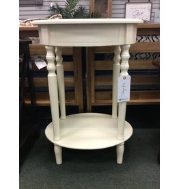 Andover Mills Crestmont Oval Antique White End Table
