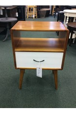 Collado Mid-Century End Table w/ White Drawer