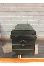 Vintage Style Green Metal Trunk
