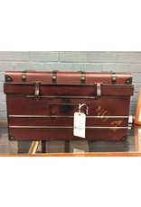 Vintage Style Dark Red Metal Trunk