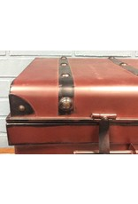 Vintage Style Dark Red Metal Trunk