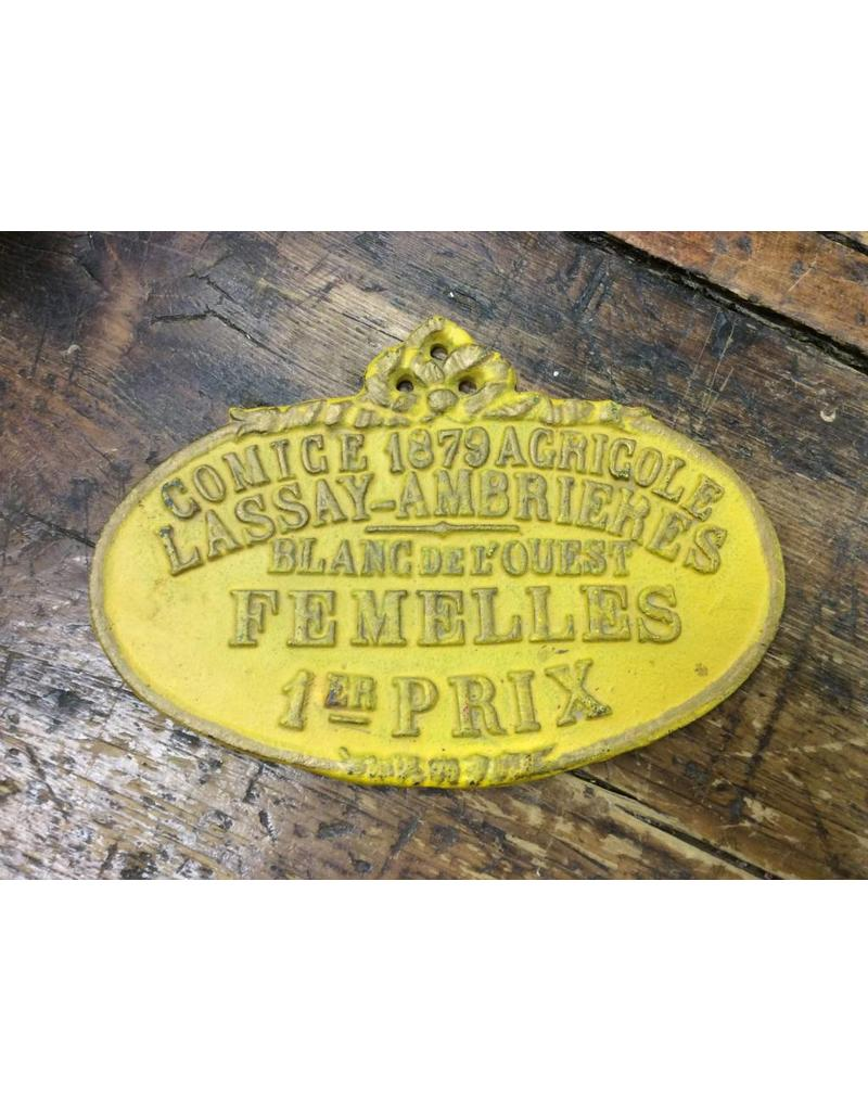 Cast Iron Plaque