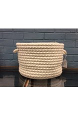 Colonial Mills Natural Wool Houndstooth Utility Basket