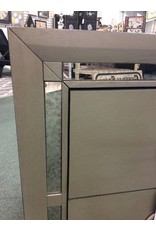 Mercer41 Silver Tottenham 2 Drawer Nightstand