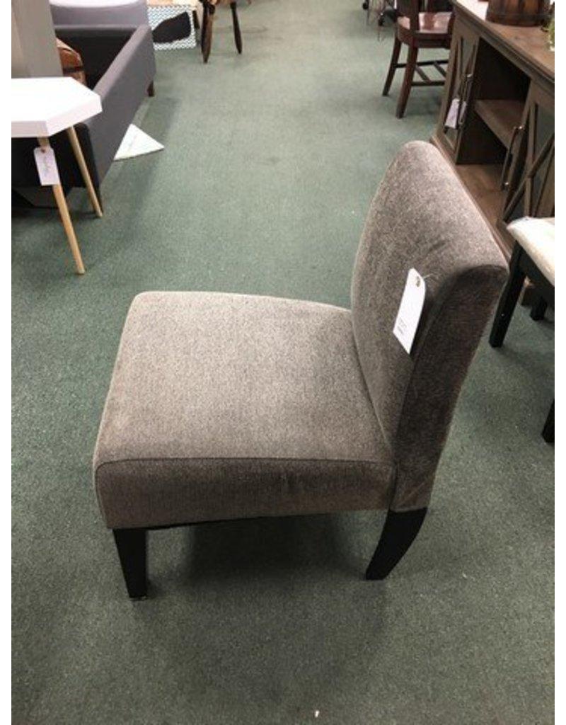 Wrought Studio Arrandale Solid Slipper Chair -- Gray