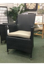 Outdoor Resin Wicker Armchair w/ Cushion