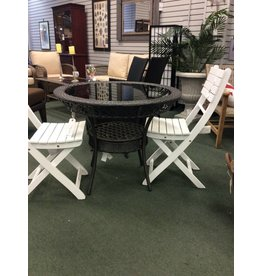 Diontsus Gray Wicker Patio Table