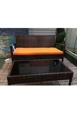 Fayette 4 Piece Patio Set w/ Orange Seat Cushions