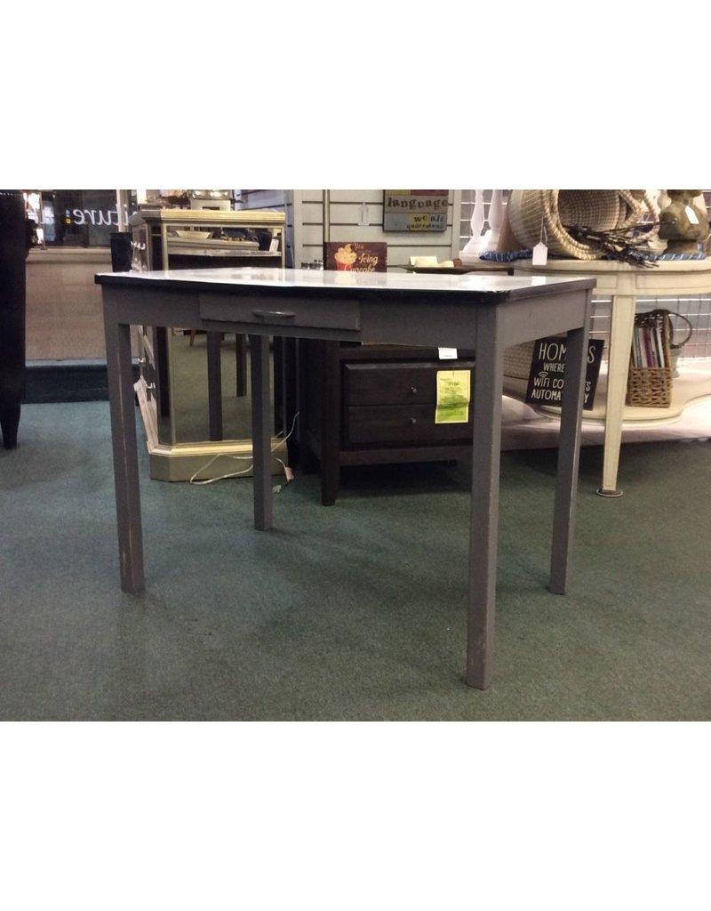 Enamel top painted kitchen table w storage drawer