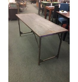 Primitive / Industrial Gray Folding Table