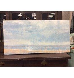 "House of Hampton Abstract Beach on Canvas 48"" x 24"""