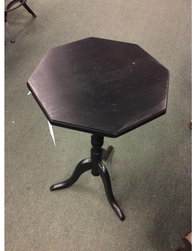Black Octagon Tripod Table