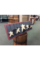 Red White and Blue Hat Rack