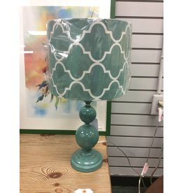 Geometric Accent Lamp - Teal