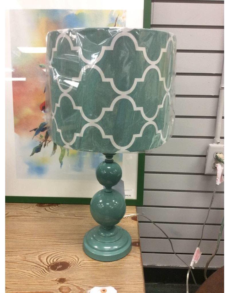 Midwest-CBK LLC Geometric Accent Lamp - Teal