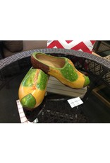 Vintage Green Wooden Shoes