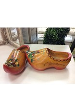 Vintage Red Wooden Shoes