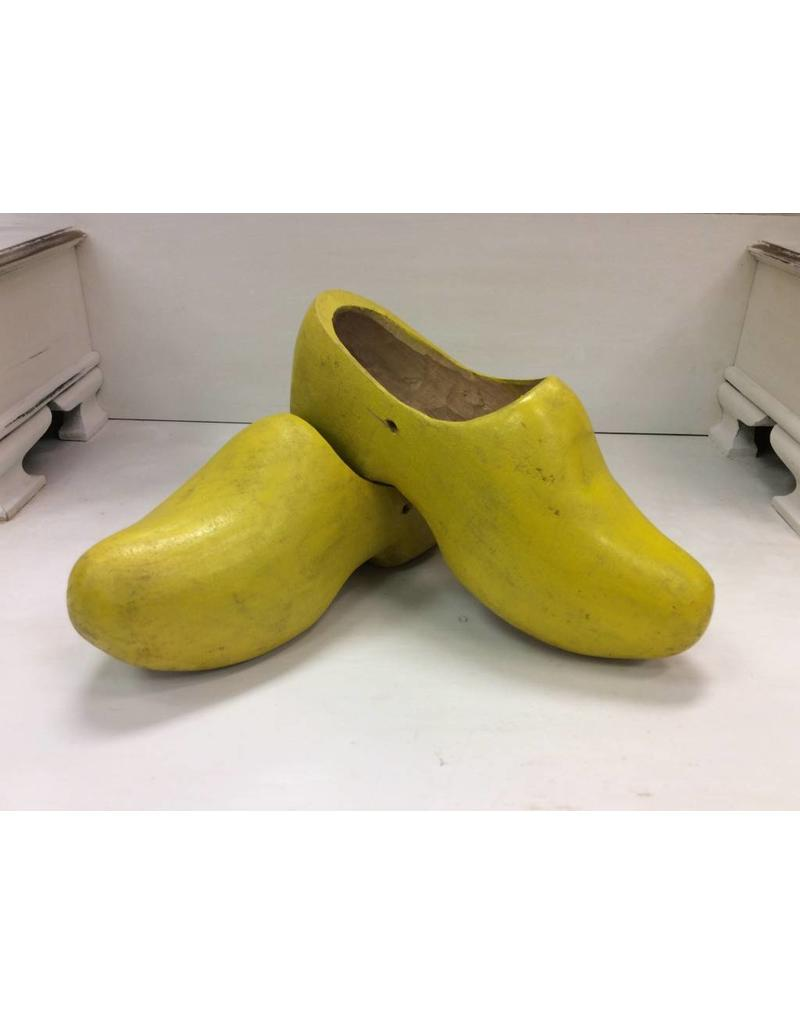 Vintage Yellow Wooden Shoes
