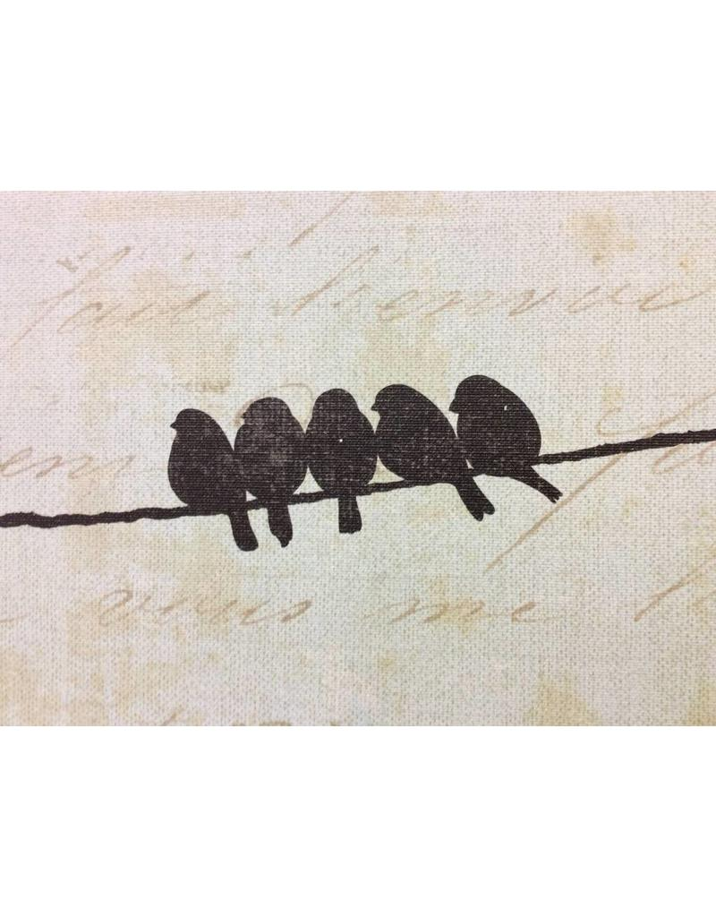 JOY Bird On A Wire Wrapped Canvas