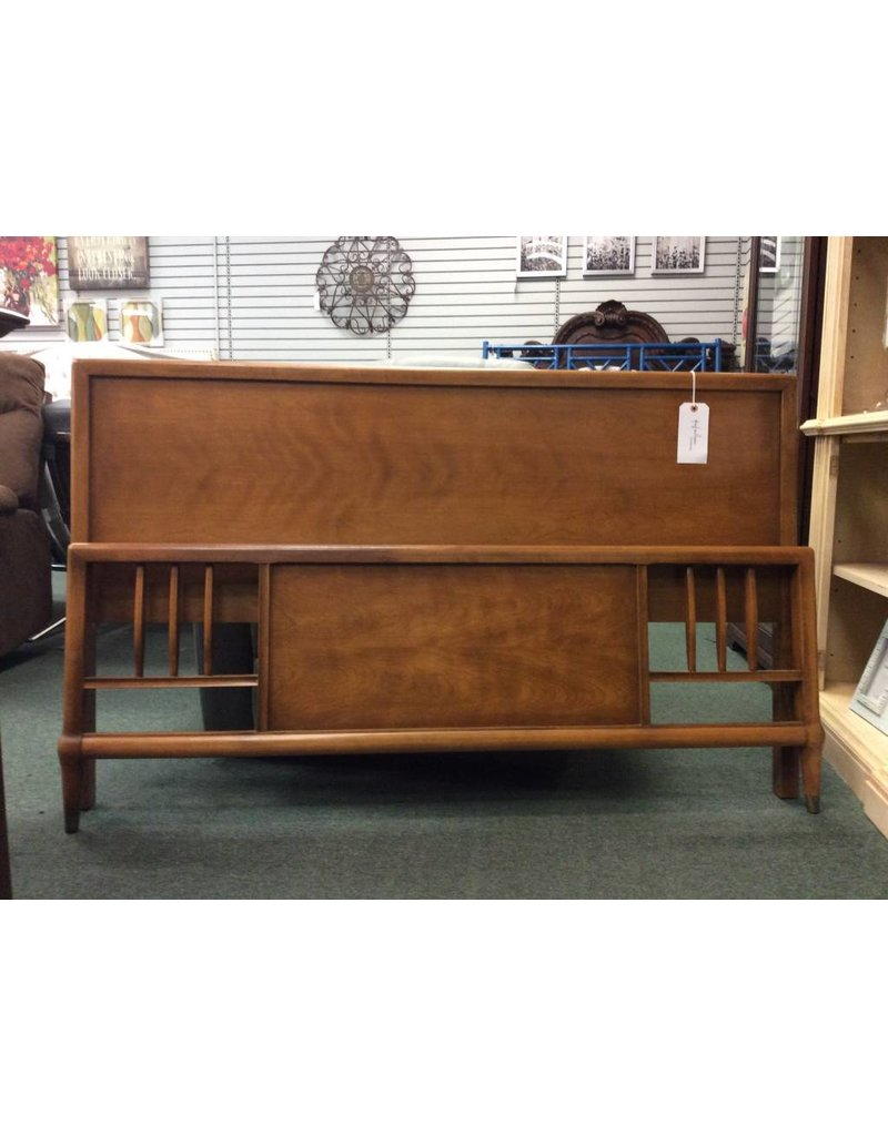 Mid Century Full Size Wooden Bed