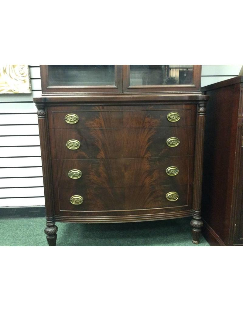 Mahogany Federal Style China Cabinet