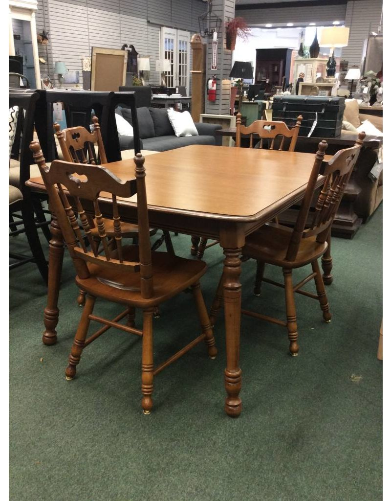 Solid Maple Vintage Dining Set W 4 Chairs ...