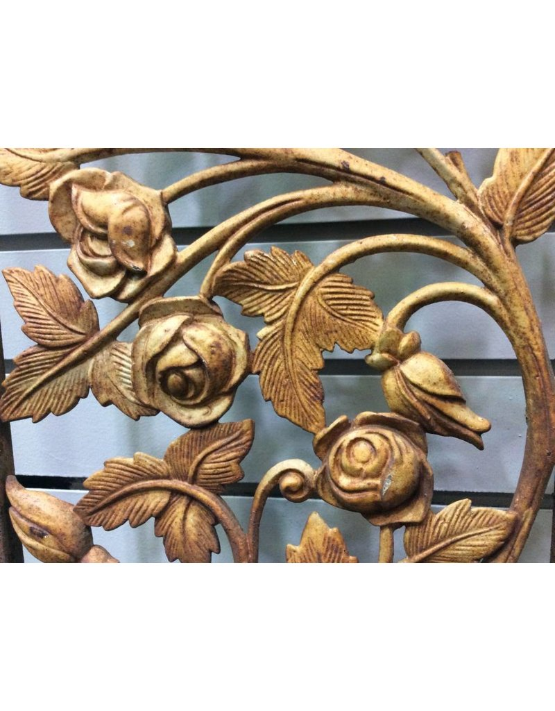 Rusty Wrought Iron Vintage Railing Section