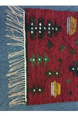 Red Kilim Rug from Poland