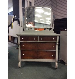 Vintage 4 Drawer Dresser with Mirror