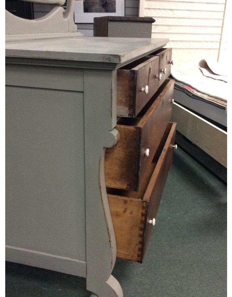 Vintage 4 Drawer Dresser with Mirror